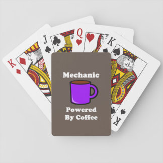 """""""Mechanic""""  Powered by Coffee Playing Cards"""