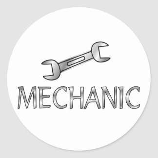Mechanic Round Sticker