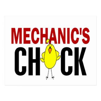 MECHANIC'S CHICK POSTCARD
