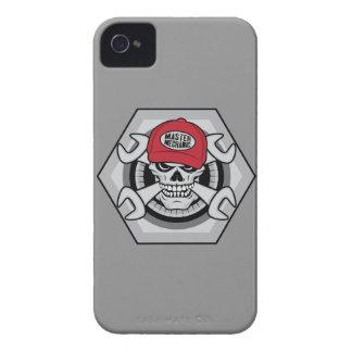 Mechanic Skull-01 iPhone 4 Covers