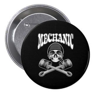 Mechanic Skull Pistons Button