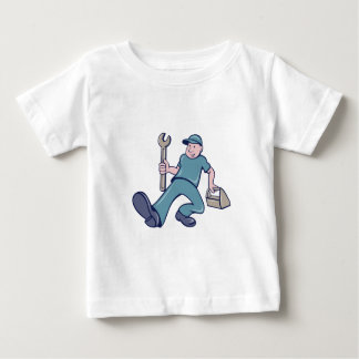 Mechanic Spanner Foot Forward Cartoon Baby T-Shirt