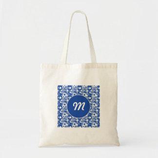 Mechanical circles pattern tote bag