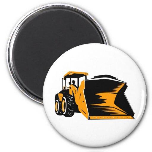 mechanical digger construction excavator fridge magnet