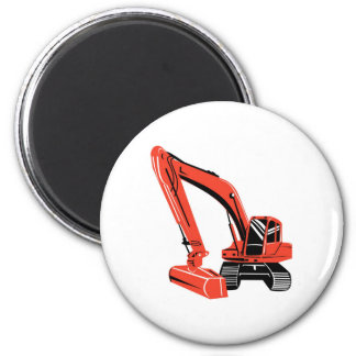 mechanical digger construction excavator refrigerator magnet