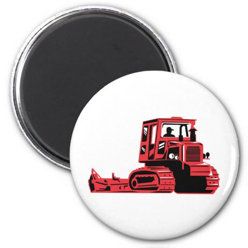 mechanical digger construction excavator tractor refrigerator magnet
