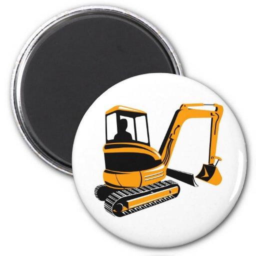 mechanical digger excavator refrigerator magnets