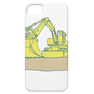 Mechanical Digger Excavator Ribbon Scroll Drawing iPhone 5 Covers
