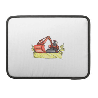 Mechanical Digger Excavator Ribbon Tattoo Sleeve For MacBook Pro