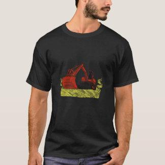 Mechanical Digger Excavator Ribbon Tattoo T-Shirt