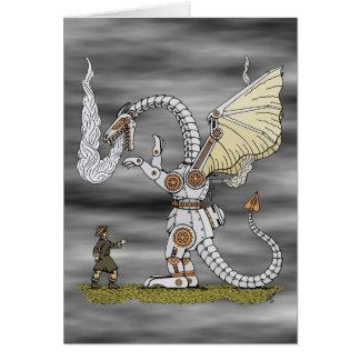 Mechanical Dragon Greeting Card