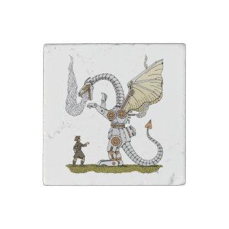 Mechanical Dragon Stone Magnets