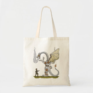Mechanical Dragon Tote Bag