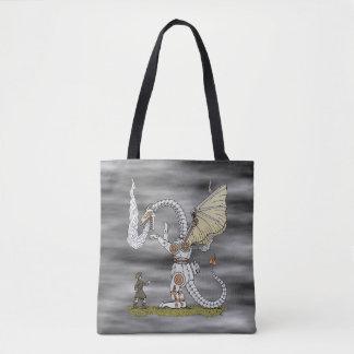 Mechanical Dragon Tote Bag