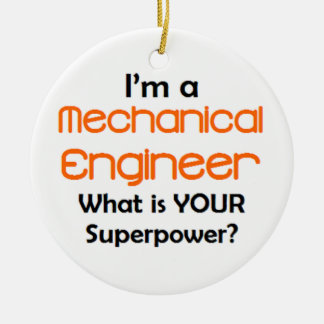 mechanical engineer ceramic ornament