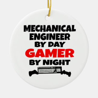 Mechanical Engineer Gamer Ceramic Ornament