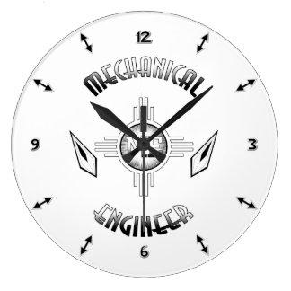 Mechanical Engineer Retro Large Clock
