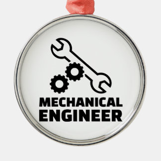 Mechanical engineer Silver-Colored round ornament