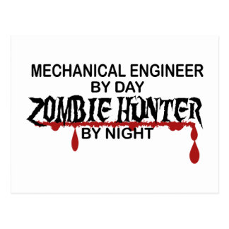 Mechanical Engineer Zombie Hunter Postcard