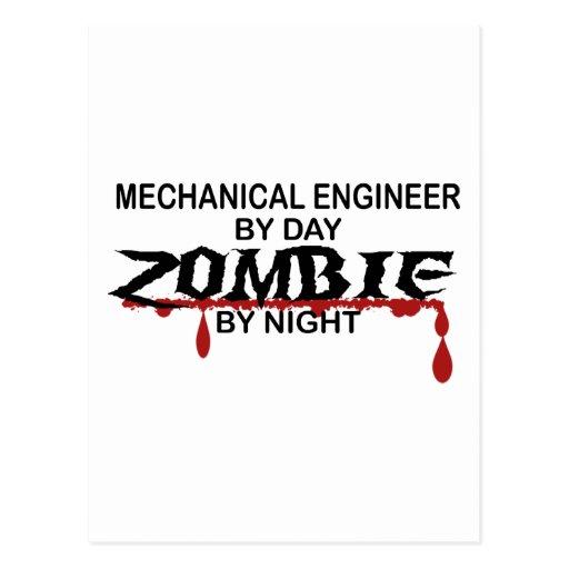 Mechanical Engineer Zombie Post Card
