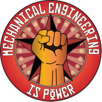Mechanical Engineering Is Power Photo Sculpture Ornament