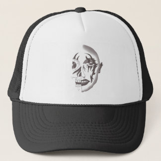 MECHANICAL FACE CYBORG PRINT FOR BALL CAP