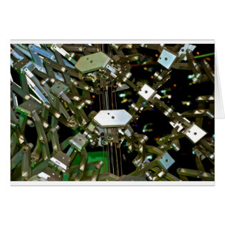 Mechanical Flex Abstraction Greeting Card