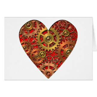 mechanical heart greeting cards