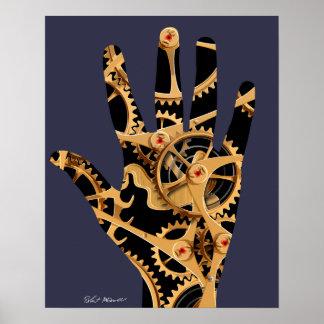 Mechanical High Five Poster