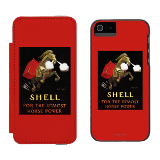 Mechanical Horse with Shell Oil Incipio Watson™ iPhone 5 Wallet Case