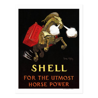Mechanical Horse with Shell Oil Postcard