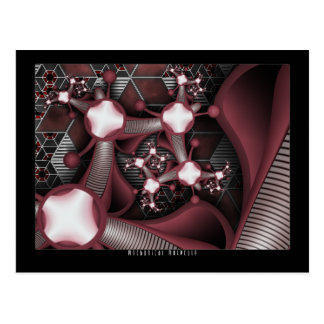 Mechanical Molecule Postcard