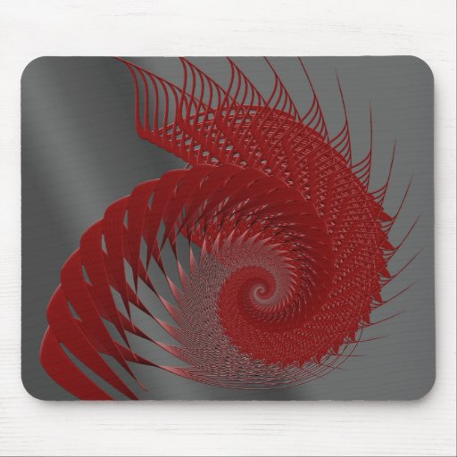 Mechanical Shell. Red and Gray Digital Art. Mouse Pads