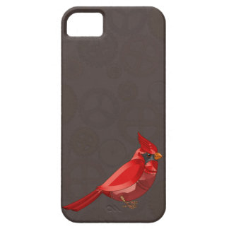 Mechanical Steampunk Cardinal in Faux Metallics iPhone 5 Covers
