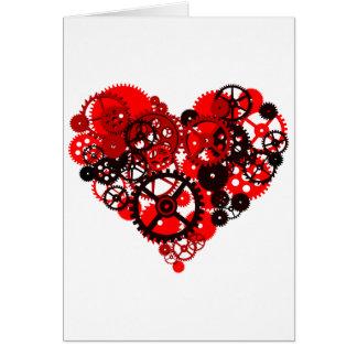 MECHANICAL STEAMPUNK HEART GREETING CARD