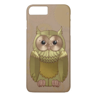 Mechanical Steampunk Owl in Faux Metallic Colors iPhone 7 Plus Case