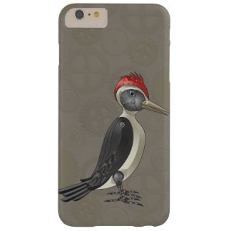 Mechanical Steampunk Woodpecker in Faux Metallics Barely There iPhone 6 Plus Case