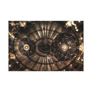 Mechanical Steampunk Zodiac Constellations Canvas Print