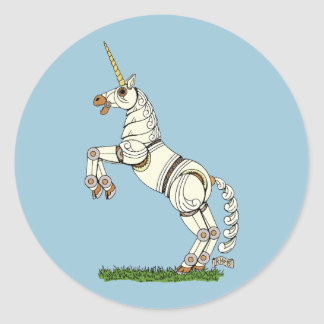 Mechanical Unicorn Classic Round Sticker