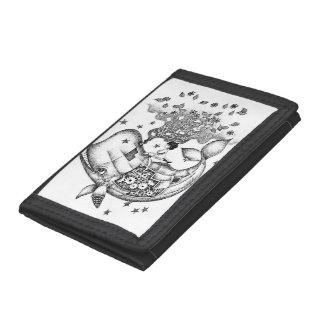 Mechanical whale tri-fold wallet