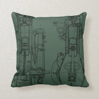 Mechanichal Drawing Blueprint Engineer Engineering Throw Pillow