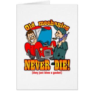 Mechanics Greeting Cards