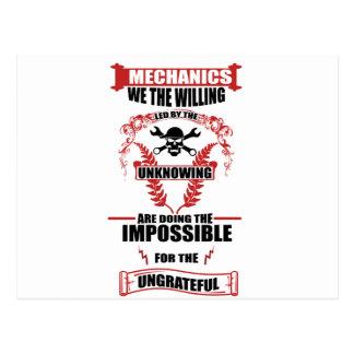 mechanics design postcard