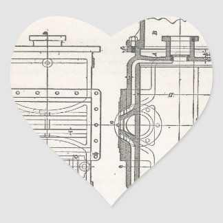 Mechanic's Pocletbook Heart Sticker