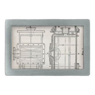 Mechanic's Pocletbook Rectangular Belt Buckle
