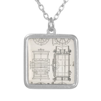 Mechanic's Pocletbook Silver Plated Necklace