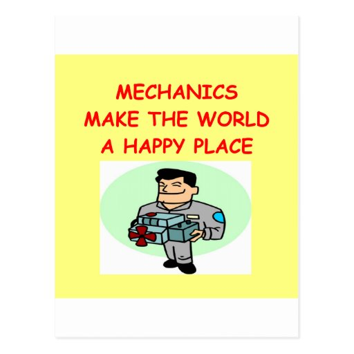 mechanics postcard