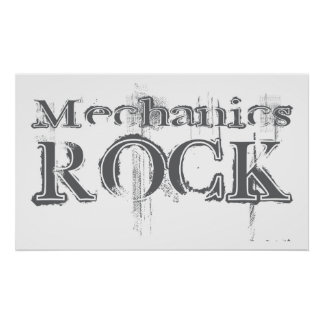 Mechanics Rock Poster