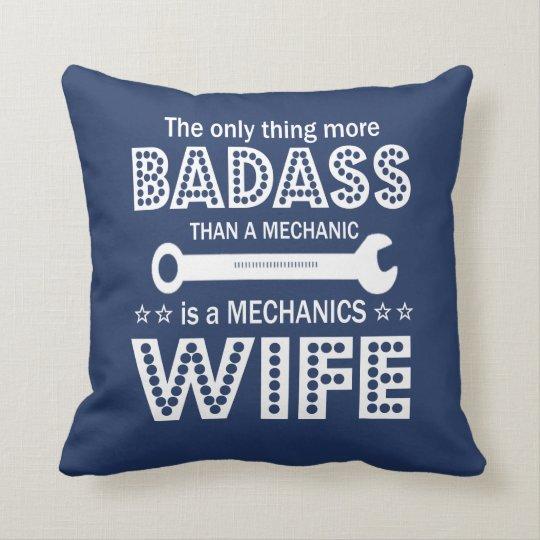 Mechanic's Wife Throw Pillow