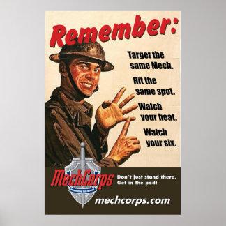 "MechCorps ""Remember"" poster 02"